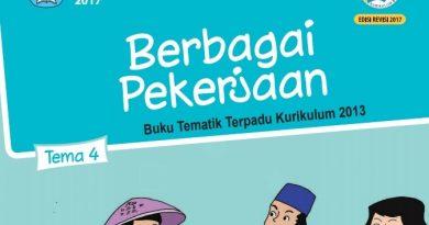 Buku Tema 4 Kelas 4 SD/MI Berbagai Pekerjaan