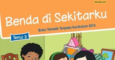 Kunci Jawaban Latihan Soal Ulangan Harian Semester 1 (UH/PH), Tema 3 Kelas 3 Subtema 3 Benda di Sekitarku