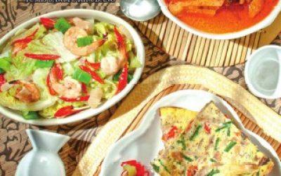 H17 Omelet Tongkol, Tumis Sawi Putih Udang, Tahu Kuah Santan